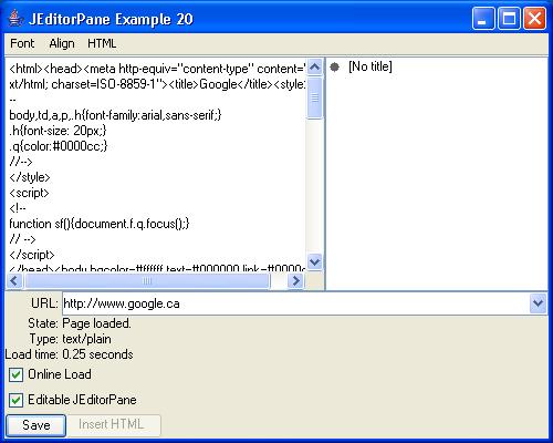JEditorPane Example 20