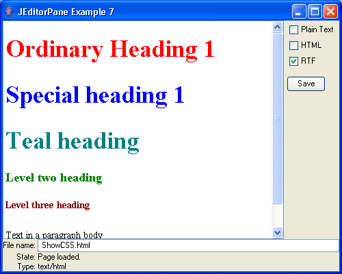 JEditorPane and the Swing HTML Package 7