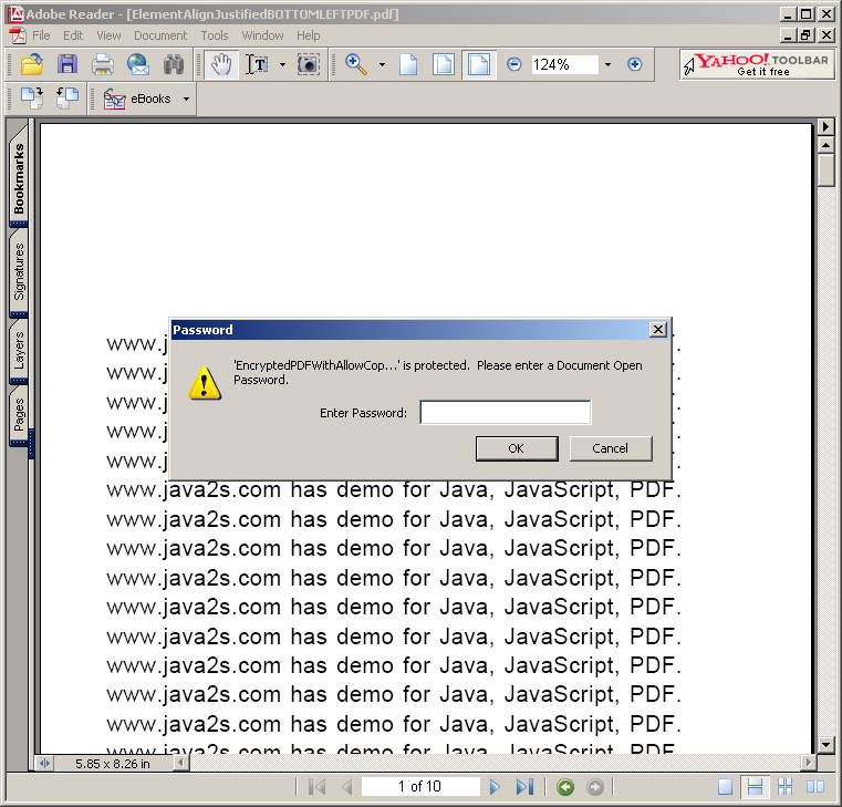 Encrypted PDF: AllowCopy, Printing