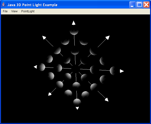 ExPointLight - illustrate use of point lights