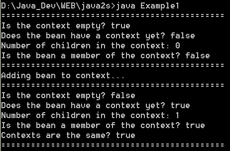 JavaBean: BeanContextSupport