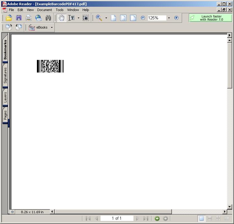 Example BarcodePDF417