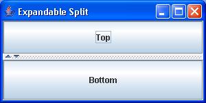 Expandable SplitPane