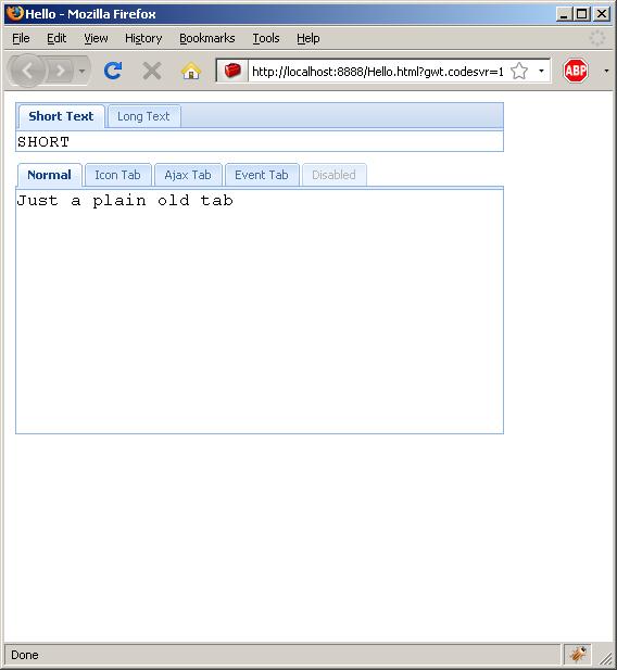 Adding icon to tab bar (Ext GWT)