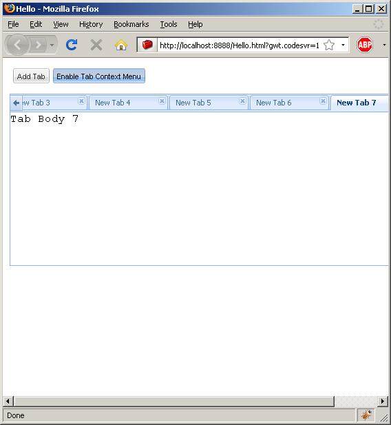 Adding new tab dynamically (Ext GWT)
