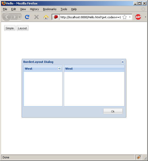 Dialog with layout (Ext GWT)