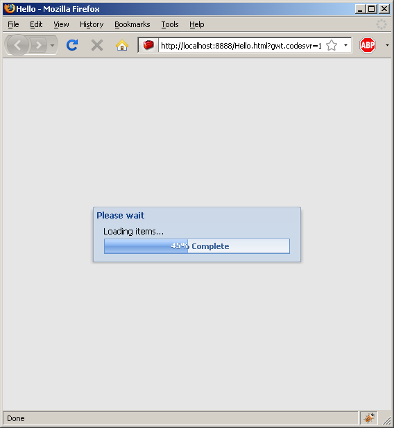 Progress Bar dialog box (Ext GWT)