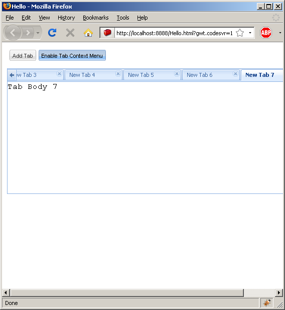 Set selected tab (Ext GWT)
