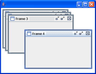 A few interesting things using JInternalFrames, JDesktopPane, and DesktopManager