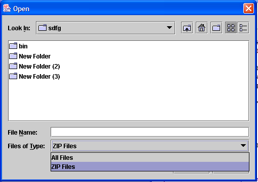 FileChooser file filter customized filechooser