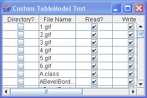 Custom table model, File data based Model