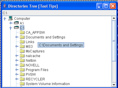 File Tree with Tooltips
