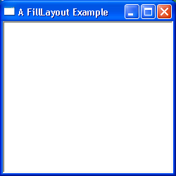 FillLayout Example
