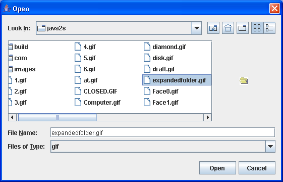 File Chooser Demo 4