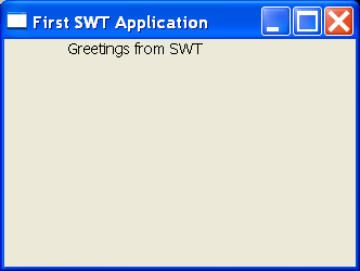 First SWT: Label