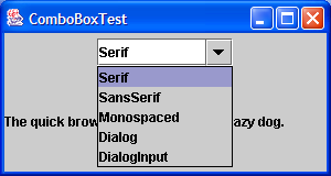 Font Chooser ComboBox