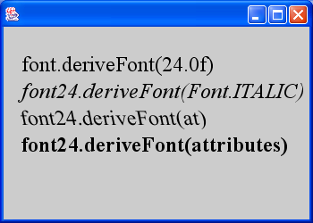 Font Derivation