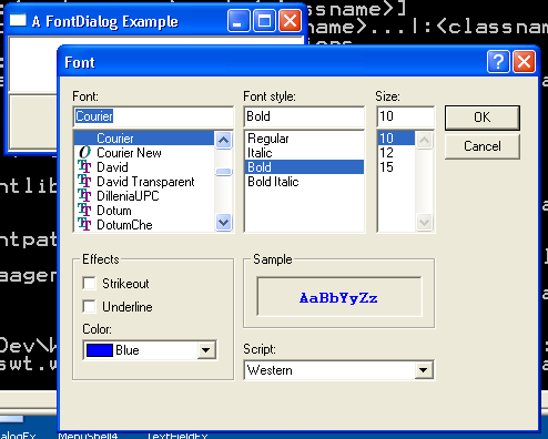 Font Dialog Example