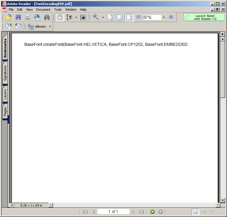 Font Encoding PDF