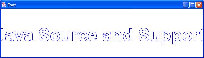 Outline Font paint