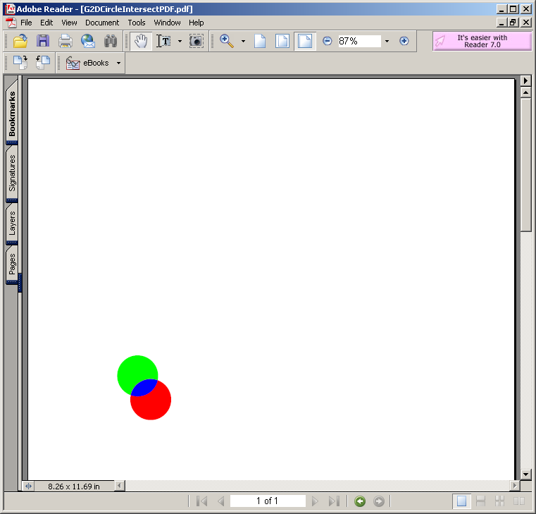 Graphics2D Circle Intersect