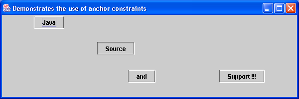 GridBagLayout with anchor constraints