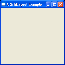 GridLayout Example