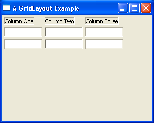 GridLayout Example 2