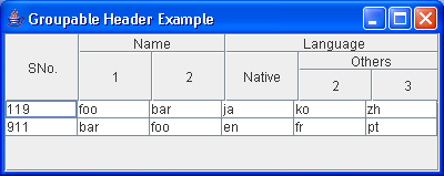 Groupable(Group) Header Example