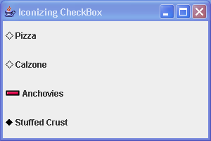 Icon CheckBox Demo