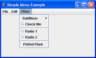 Building menus and menu items: Accelerators and mnemonics