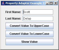 JGoodies Binding: Property Adapter Example 3
