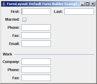 FormLayout: Default Form Builder Example 1