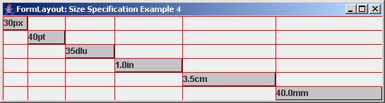 FormLayout: Size Specification Example 4