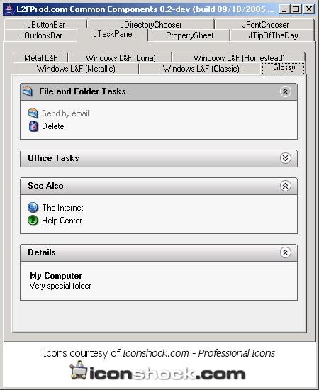 TaskPane: glossy style