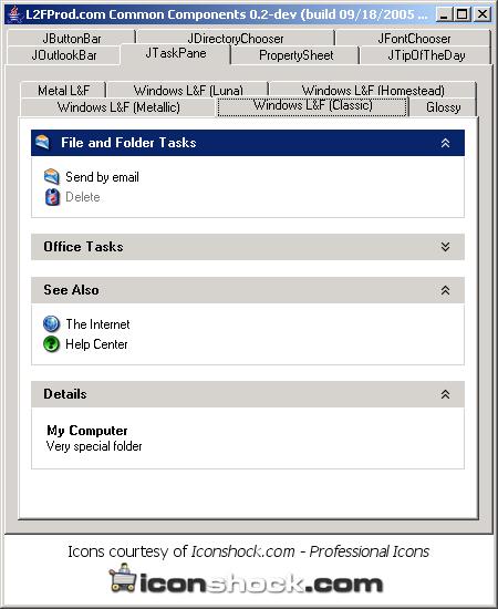 TaskPane: window classic style
