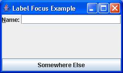 LabelFocusSample: setLabelFor