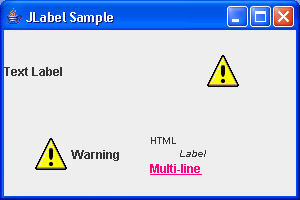 Label with HTML Sample