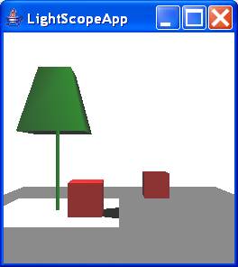LightScopeApp creates a scene that is paritally light