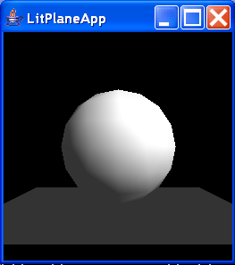 This program demonstrates the absence of automatic shadowing in Java 3D
