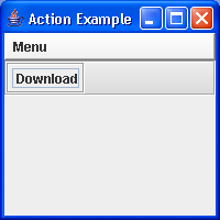 This example create a menubar and toolbar both populated with Action