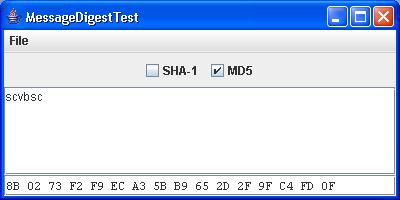 Message Digest Test