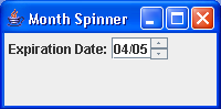 An example of JSpinner with a custom editor