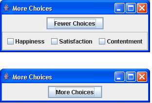 Demo to show a way of having More Choices or Less Choices