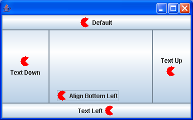 Displaying a Button with Various Label Alignments