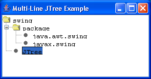 MultiLine Tree Example