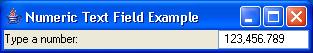Numeric TextField