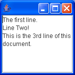 Show line start end offsets in a JTextArea