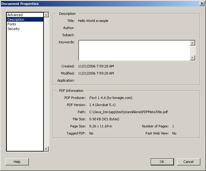 PDF Meta data: Title