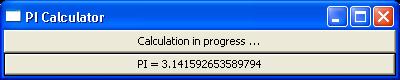 Illustrates multithread UI programming issues